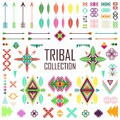 stock photo of tribal  - Tribal elements collection - JPG
