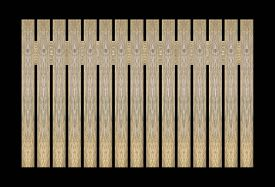 pic of wooden fence  - Background wooden fence The close proximity of green wood fence panels - JPG