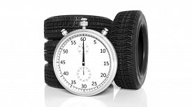 picture of chronometer  - Silver chronometer with tyres - JPG