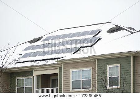solar panel on