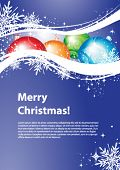 Christmas design with copy space, vector illustration