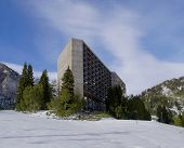 stock photo of snowbird  - Cliff ski lodge located in Little Cottonwood Canyon Snowbird Utah - JPG