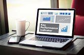 Kpi Acronym (key Performance Indicator) Plan Businessman Hand Working poster