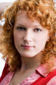 foto of red hair  - Portrait of a young red - JPG