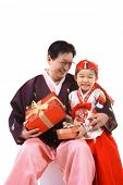 picture of hanbok  - Grandfather and Child - JPG