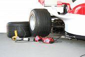 Постер, плакат: Формула 1 Пит Стоп команда инструменты