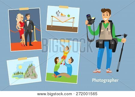 Poster: Photographer With Camera Or Tripod
