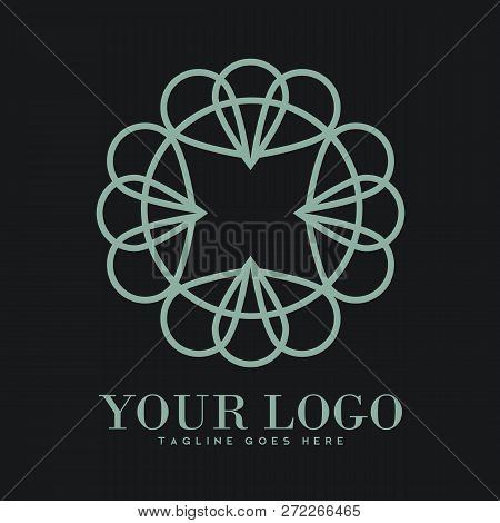 poster of Illustration Of Luxury Logo, Classic And Elegant Logo Designs For Industry And Business, Interior Lo