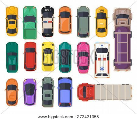 Set Of Isolated Cars Or