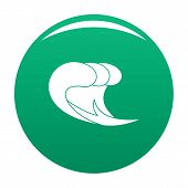 Wave Surf Icon. Simple Illustration Of Wave Surf Vector Icon For Any Design Green poster