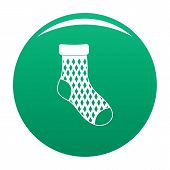 Child Sock Icon. Simple Illustration Of Child Sock Vector Icon For Any Design Green poster