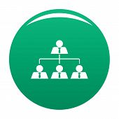 Leadership Icon. Simple Illustration Of Leadership Icon For Any Design Green poster