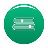 Book College Icon. Simple Illustration Of Book College Icon For Any Design Green poster