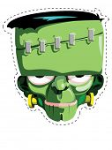 foto of frankenstein  - Cut out and keep Frankenstein mask - JPG