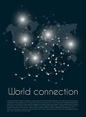 Global Network Connection. World Map Point And Line Composition Concept Of Global Business. Vector I poster