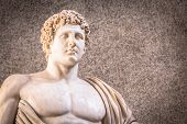 Marble Statue With Nacked Sensual Chest poster