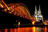 pic of koln  - Rhine River and Dom of Cologne - JPG
