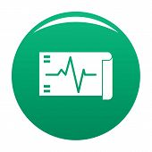 Electrocardiogram Icon. Simple Illustration Of Electrocardiogram Icon For Any Design Green poster