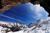 Постер, плакат: Горный пейзаж Бернер Оберланд Айсмеер ледник Швейцария наследие ЮНЕСКО