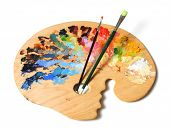 image of paint brush  - Ergonomic artist - JPG