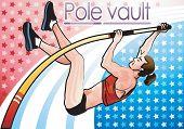 picture of pole-vault  - Pole vault - JPG