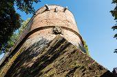 Постер, плакат: Замок в Сиене крепостной стены деталь Тоскана Италия