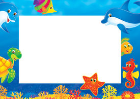 pic of sea life  - High resolution background for your summer photo frame - JPG