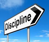 picture of discipline  - Illustration depicting a sign with a discipline concept - JPG