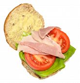 Ham And Salad Sandwich Roll