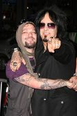 Bam Margera and Nikki Sixx  at the premiere of
