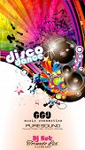 foto of club party  - PArty Club Flyer for Music event with Explosion of colors - JPG