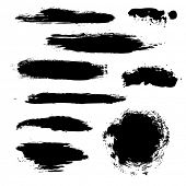 picture of expressionism  - Black Blobs Set - JPG