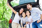 stock photo of family bonding  - Family car - JPG