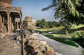 image of qutub minar  - The qutub minar complex delhi in india - JPG