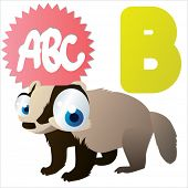 picture of badger  - B is for Badger - JPG