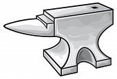 pic of anvil  - anvil design vector illustration on white background - JPG