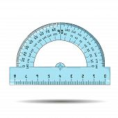 picture of protractor  - Vector illustration of protractor on white background - JPG