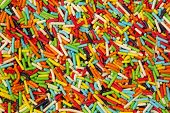pic of eatables  - Colorful small sweet sugar sticks - JPG