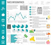 Постер, плакат: Tax infographics set