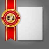 pic of hardcover book  - Realistic white blank hardcover book - JPG