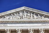 picture of supreme court  - US Supreme Court Statues Capitol Hill Washington DC - JPG
