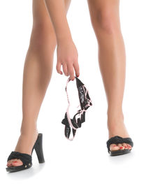 picture of woman g-string  - Female legs with black g - JPG