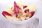 pic of chicory  - fresh salad with chicory and walnut - JPG
