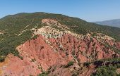 picture of atlas  - The mountain of sedimentary rock of the Atlas mountain in Quarzazate Morocco - JPG