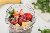 picture of frozen  - homemade healthy smoothie ingredients - JPG