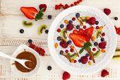 picture of fruit bowl  - Breakfast bowl - JPG