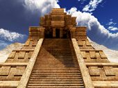 picture of mayan  - the stairs of Mayan temple - JPG
