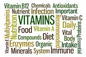picture of b12  - Vitamins word cloud on white background - JPG