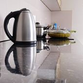 picture of kettles  - Interior of a modern kitchen - JPG