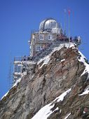 stock photo of glorious  - The Jungfraujoch Sphinx Observatory in glorious June Sunshine - JPG